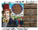 Willy Wonka and the Chocolate Factory 10 x 8 - The 5 childrens genuine autographs